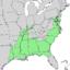 Quercus michauxii range map 1.png