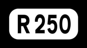 R251 road (Ireland) - Image: R250 Regional Route Shield Ireland