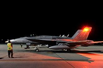 Neville McNamara - Image: RAAF F 18 Red Flag 10 night