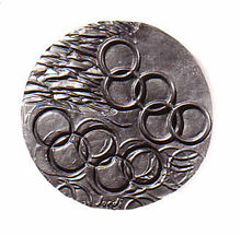 Olympic movement. Anvers. Bronze fos. 180mm