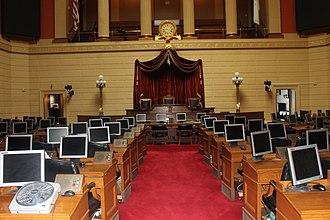Rhode Island House of Representatives - Image: RI State House of Representatives chamber IMG 3025