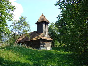 Dobra, Hunedoara - Wooden church in Stâncești village