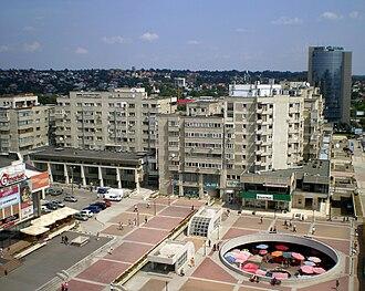 Systematization (Romania) - Communist era's Central Hall Square in Iași