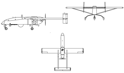 RQ-2B Pioneer (drawing)