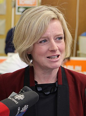Alberta general election, 2015 - Image: Rachel Notley crop
