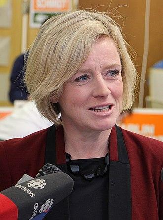 Alberta general election, 2015 - Image: Rachel Notley crop