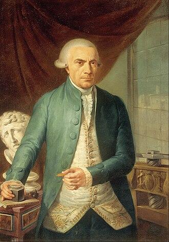 Academy of San Carlos - Rafael Ximeno y Planes, portrait of Jerónimo Antonio Gil, director of the academy