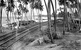 Sri Lanka Railways - Railway lines near Colombo in 1940