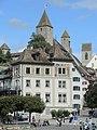 Rapperswil - Curtiplatz - Curtihaus - Türme Schloss & Stadtpfarrkirche - ZSG Panta Rhei 2013-08-25 15-18-13 (P7700).JPG