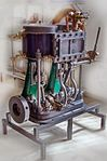 Reciprocating steam engine of the tugboat Vridni (1894); Split, 2013-04-08.jpg