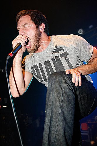 The Red Chord - Vocalist Guy Kozowyk performing in 2009.