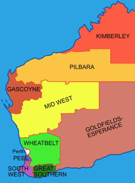 Fichier:Regions of western australia nine plus perth.png