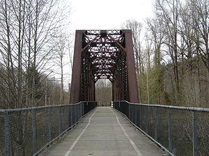 Snoqualmie Valley Regional Trail - Approaching Reinig Bridge