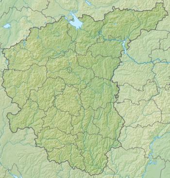 Центральный федеральный округ: физико-географическая карта
