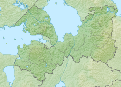 Location map Leningrad Oblast