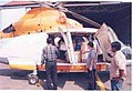 Relief materials being loaded to the Pawan Hans Helicopter for transportation to Car Nicobar.jpg