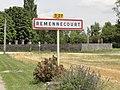 Remennecourt (Meuse) city limit sign.jpg