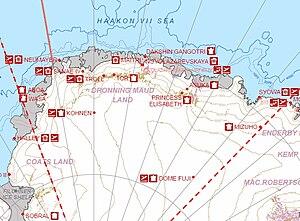 King Haakon VII Sea -  Area map of King Haakon VII Sea proposal.