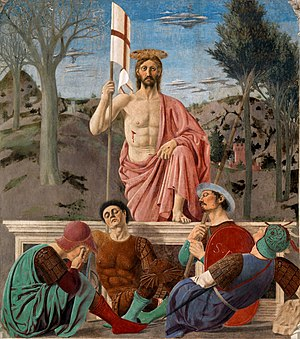 Paschal Triduum - Jesus Resurrected by Piero della Francesca (15th century).