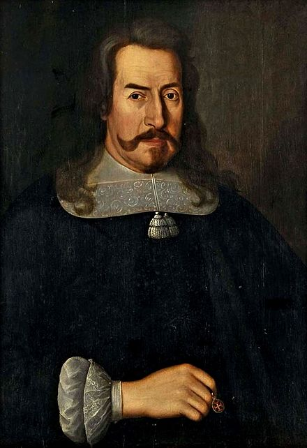 Antonio Luis de Meneses, Marquis of Marialva, led victories at the Lines of Elvas. Retrato de D. Antonio Luis de Menezes, 1o marques de Marialva.jpg