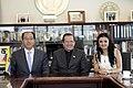 Reunión con el Vicepresidente de Relaciones Internacionales de Hankuk University of Foreign Studies (9083443317).jpg
