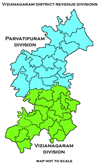 Revenue divisions map of Vizianagaram district.png