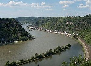 English: Rhine valley at Sankt Goarshausen, UN...