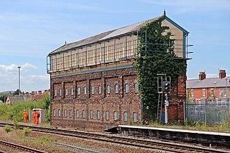 Rhyl railway station - Image: Rhyl No.2 signal box, Rhyl railway station (geograph 4031238)