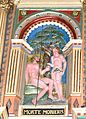 Ribe domkirke - Kanzel 1 Adam und Eva.jpg