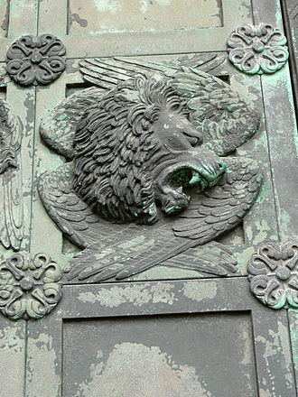 Anne Marie Carl-Nielsen - The lion of St Mark from the door of Ribe Cathedral