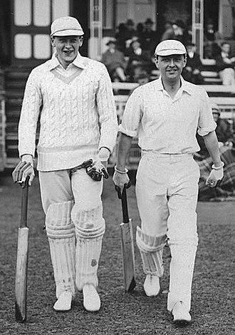 Eddie Dawson - Dawson (right) at a match vs. Australia on 19 May 1926