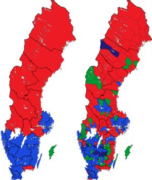 Rigsdagsvalget i Sverige 1991 i valgkredse og kommuner.png