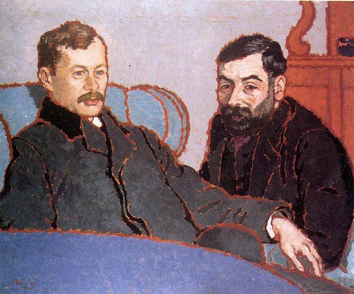 Fichier:Rippl-Rónai József (1861-1927) Petrovics Elek és Meller Simon.jpg