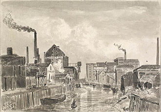 Wilmington, Kingston upon Hull - Image: River Hull from Sculcoates Bridge , 1889