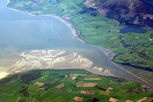 Geography of Scotland - The estuary of the River Nith emptying into the Solway Firth to the south of Dumfries.