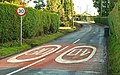 Road markings, Dromore - geograph.org.uk - 1129907.jpg