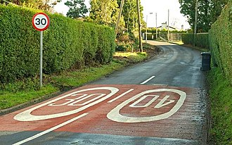 Road Safety Markings Association - Typical road safety markings in Dromore, County Down