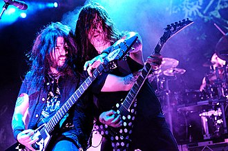 Machine Head (band) - Robb Flynn (left) and Phil Demmel (right).