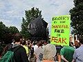 Robert E. Lee sculpture - protest sign.jpg