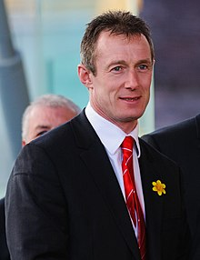 alt=Description de l'image Robert Howley Wales Grand Slam Celebration, Senedd 19 March 2012.jpg.