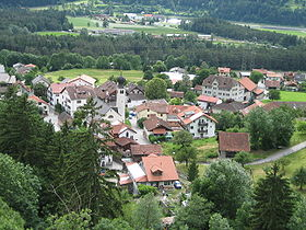 Vue du village de Rodels