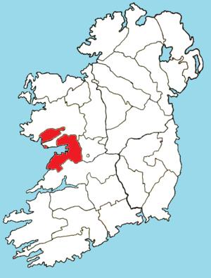 Roman Catholic Diocese of Galway, Kilmacduagh and Kilfenora - Image: Roman Catholic Diocese of Galway KK map