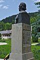 Romania Putna Monastery Statue Mihai Eminescu Back.jpg