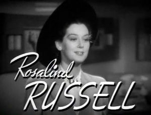 Screenshot of Rosalind Russell from the traile...