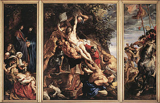 triptych by Peter Paul Rubens in Cathedral of Our Lady, Antwerp