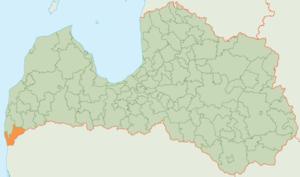 Rucava Municipality - Image: Rucavas novada karte