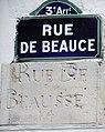 Rue de Beauce 2 indications orthographe différentes.jpg