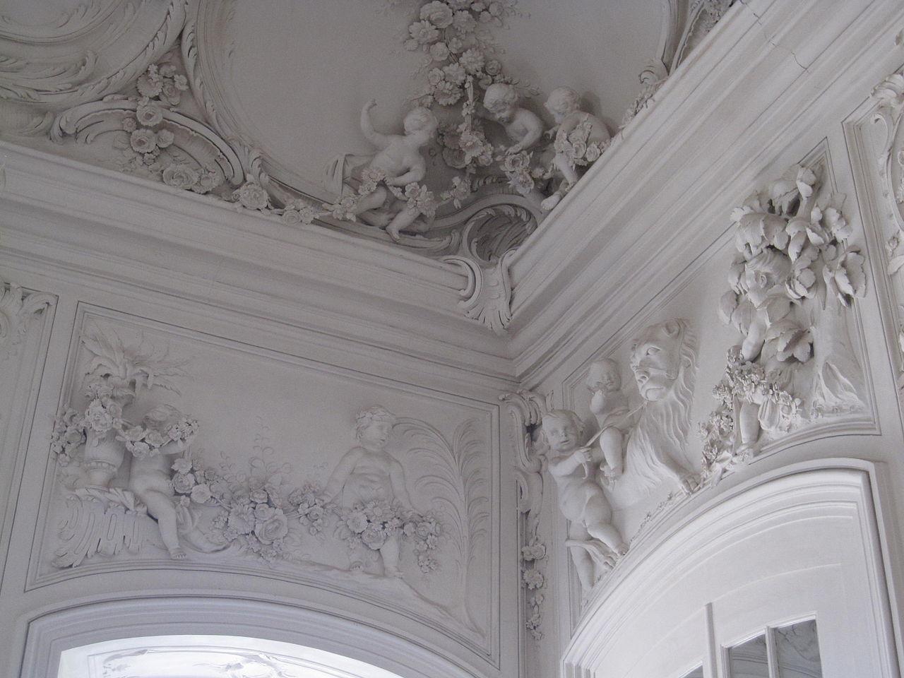 File Rundale Palace Interior Stucco Decorations Jpg