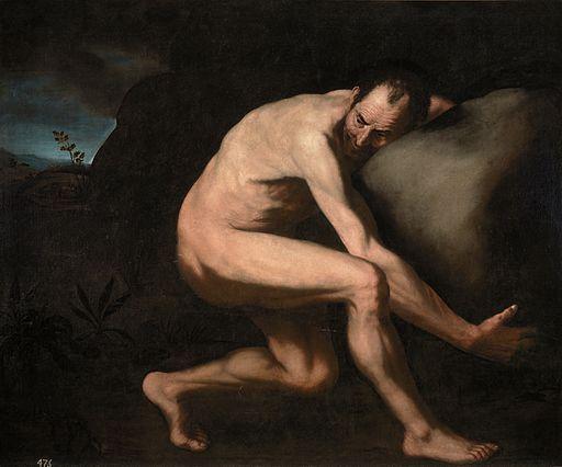 Sísifo, copia del original de José de Ribera (Museo del Prado)
