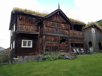 Log house - 17th-century log farmhouse in Heidal, Norway.